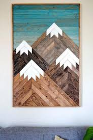 wood art wall wooden geometric diy