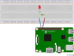 Led Circuit Design Tutorial Making A Led Blink Using The Raspberry Pi And Python
