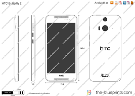 HTC Butterfly S vector drawing