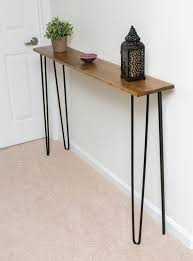 all you need are hairpin legs and a single board to make this console table by