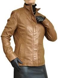 las cognac tan luxury leather jacket