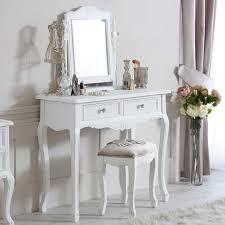 dressing table mirror and stool elise white range