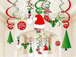 Christmas Swirls Christmas Hanging Swirl Decoration Kit 30pcs Merry