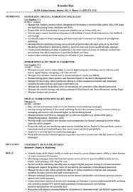 How To Email Resume For Job Resume Templates Marketing Manager Sample Account Advertising 74
