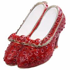 wizard of oz gifts ruby slipper the crystal red shoes jewelry box trinket box metal vine decoration box gifts in jewelry packaging