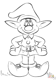 Small Picture Christmas Elf coloring page Free Printable Coloring Pages