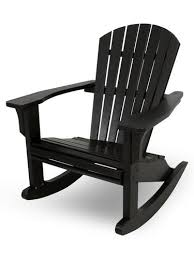 polywood seashell rocking patio chair