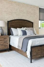 Image Brick Wall Foundry Panel Bed Rugged Wood And Cool Metal Details Instill Your Bedroom Retreat With Classic Industrial Style Youll Discover The Sturdy Beauty Of Solid Pinterest Foundry Panel Bed Rugged Wood And Cool Metal Details Instill Your
