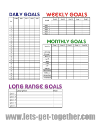 Daily Goals Template New Year Goal Setting Tips Free Printable Goals