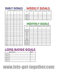 Life Goal Chart Template New Year Goal Setting Tips Free Printable Goal Charts