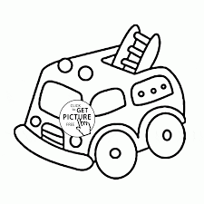 Small Picture Cute Cartoon Fire Truck coloring page for preschoolers