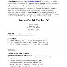 Esl Teacher Resume Example Sample Resume Format For English Teachers Resume Template Easy http 53