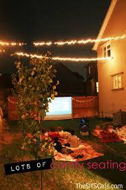 Backyard Movie Night DIY Party  Movie Night IdeasMovie Backyard