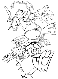Pokemon Coloring Pages Rayquaza Coloring Home