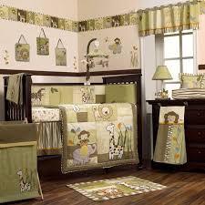 safari jungle animals green and brown nursery 8pc ba boygirl crib pertaining to amazing house jungle themed nursery bedding sets remodel
