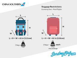 China Southern 2019 Airlines Baggage Allowance Send My Bag