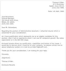 Cover Letter Examples With Salary Requirements Administrative Cover