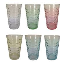6 pcs colored glassware everyday drinking glass set 628g