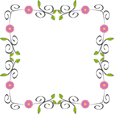 frame design flower. floral flower flourish border frame abstra design