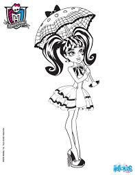 monster high coloring pages draculaura. Wonderful Draculaura Draculaura With Long Bunches Doll On Monster High Coloring Pages