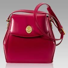 valentino orlandi fuchsia leather purse cross bag