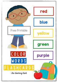 Take a look at our free printable flash cards designed for the little one to learn abc, numbers, new words and concepts. Color Words Flashcards Free Printable The Teaching Aunt