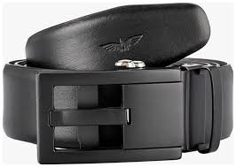 Park Avenue Black Leather Mens Belt