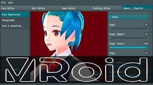 vroid studio free 3d anime style character creator