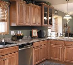 hickory cabinets design ideas granite countertop backsplash border tile flooring