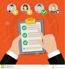 Job Qualification List Candidate Qualification Job Interview Stock Vector