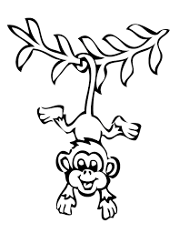 Outline Of A Monkey Coloring Page Cute Baby Monkey Coloring Pages 11