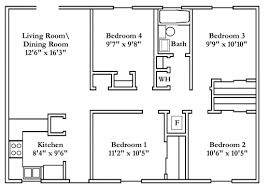 Wonderful Small 4 Bedroom House Plans Free Typical Floor Plans Small 4 Bedroom House Plans