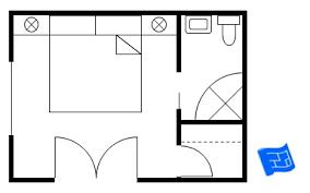 bedroom floor plan. Plain Bedroom Master Bedroom Floor Plan With Larger Corner Bathroom And Small Walkin  Closet  On Bedroom Floor Plan