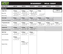 All Body Beast Workout Sheet | Download Them And Try To Solve