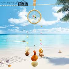 Beach Dream Catchers Cool summer beach shell pendant Dreamcatcher rustic furniture 18