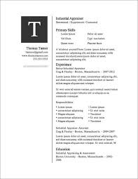 12 Resume Templates For Microsoft Word Free Download L