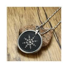 men s volcanic stone quantum scalar energy pendant necklace with cz stones for men health care male jewelry gift 25 5 inch length 65cm