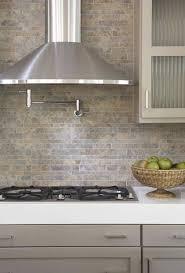 modern kitchen stone backsplash. Plain Kitchen Kitchens  Pot Filler Tumbled Linear Stone Tiles Backsplash Taupe Gray  Kitchen Cabinets White Quartz Countertops Gorgeous Modern Design   In Modern Kitchen Stone Backsplash B