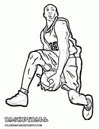 basketball player coloring page - Coloring Pages Ideas
