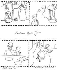 Use the zacchaeus and jesus coloring page as a fun activity for your next children's sermon. Zacchaeus Jesus Coloring Page Free Printable