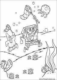 Disegni Per Dipingere Colour Spongebob Stampare Realizzazione 005