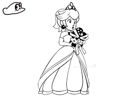 Mario Odyssey Coloring Pages At Getdrawingscom Free For Personal