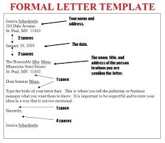 How To Format A Formal Letter Formal Letter Writing Format Theveliger