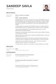 Senior Program Manager Resume Samples Visualcv Resume Samples Database
