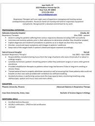 Glamorous Respiratory Therapist Resume 64 On Resume Format with Respiratory  Therapist Resume