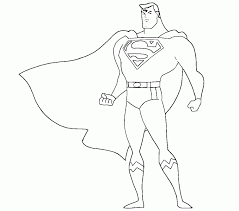 Small Picture Coloring Pages Superman Coloring Home