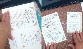 diy vintage wedding invitation in black and gold print
