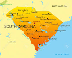 vector color map of south carolina state usa royalty free