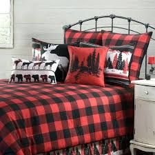 plaid bedding mountain red and black comforter made dorm home buffalo canada plaid bedding discontinued