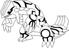 Coloriage Groudon Pokemon Imprimer